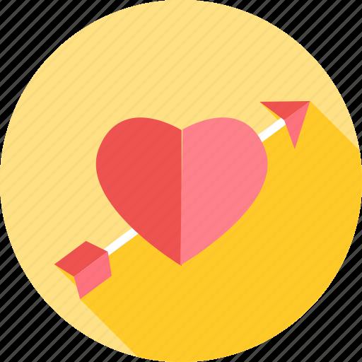 aim, arrow, bow, love, target, valentines icon