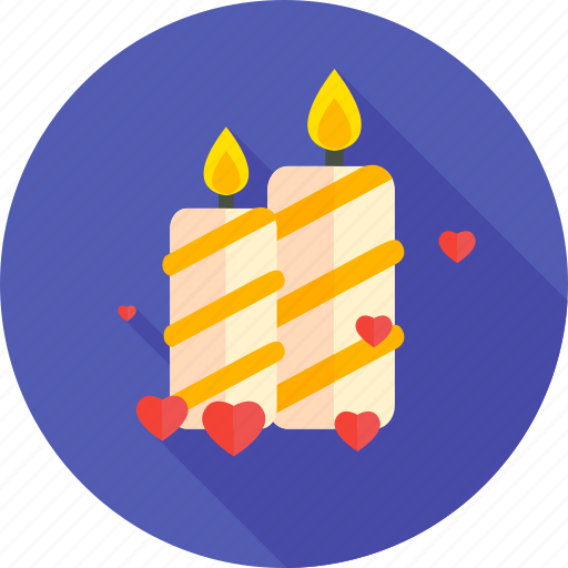 candle, candles, favorite, love, romantic, valentine, valentines icon