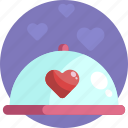 dinner, valentines, meal, romantic, food, couple, anniversary icon