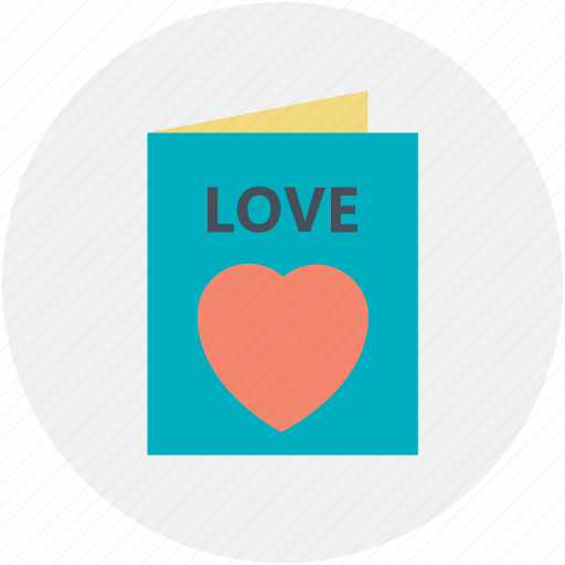 greeting card, love message, postcard, romantic, valentine card icon