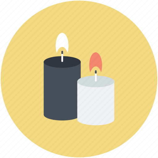 burning candles, candle light, candles, illuminated, spiritual light icon