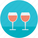alcohol, alcoholic drink, drink, party drink, wine glasses icon