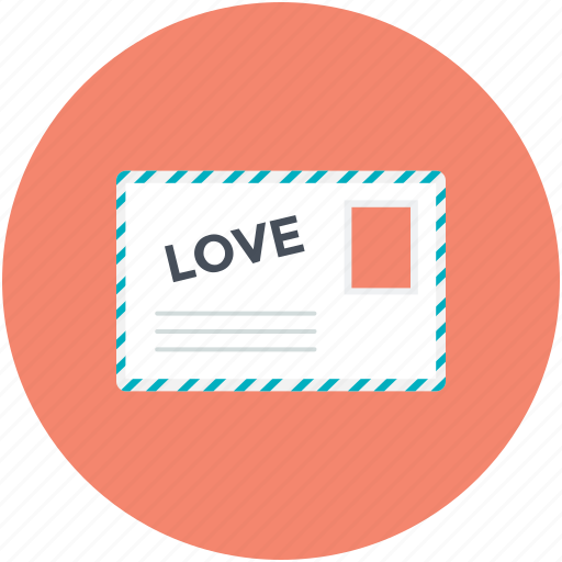 Correspondence, heart sign, love, love letter, romantic feelings icon - Download on Iconfinder