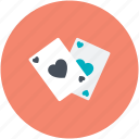 blackjack card, casino, game, heart, poker card