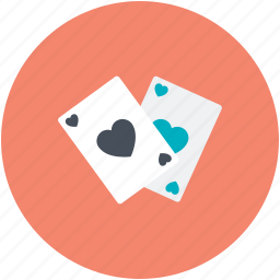 blackjack card, casino, game, heart, poker card icon