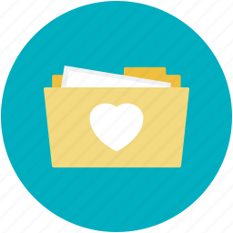 heart on folder, internet romance, love concept, love folder, online romance icon