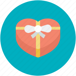 gift box, happiness, heart shaped, love present, passion, present, sensation icon