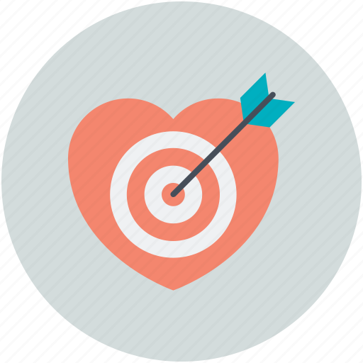 arrow, heart, love archery, love target, romantic icon