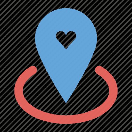 location, love, marker, pin, romance, romantic, valentines icon