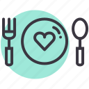 date, day, dinner, food, love, romance, valentines icon