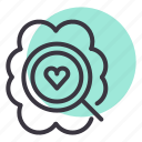 brain, discover, heart, idea, love, romance, romantic icon
