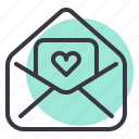 day, greetings, letter, love, romance, valentines, wishes icon