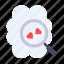 brain, discover, heart, idea, love, romance, romantic icon