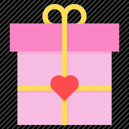 day, gift, love, present, romance, valentines icon