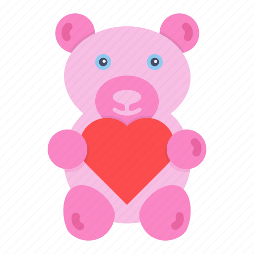 Bear Day Gift Love Romance Teddy Valentines Icon