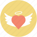 eart angel, faith, infatuation, love concept, romance icon