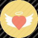 eart angel, faith, infatuation, love concept, romance