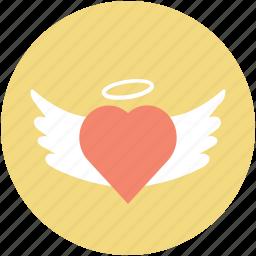 eart angel, faith, infatuation, love concept, romance icon
