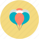 balloons, birthday balloons, colored balloons, event, party decoration icon