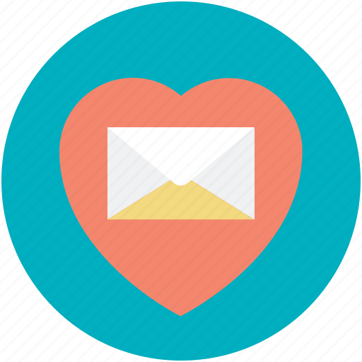Correspondence, heart sign, love inspiration, love letter, personal contact, romantic feelings, romantic letter icon - Download on Iconfinder