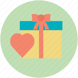 celebration, congratulation, heart gift, present, ribbon tie icon