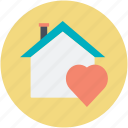 happy family, happy home, heart sign, house, love home