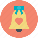 alarm bell, alert, bell, bell with heart, church bell, ring, sound icon