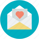 correspondence, heart sign, love, love communication, love letter, romantic feelings icon