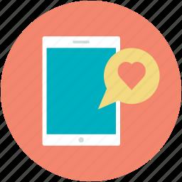 heart sign, hotspot, love via internet, mobile, valentines day icon