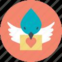 dove with letter, love correspondence, love inspiration, love theme, retro correspondence