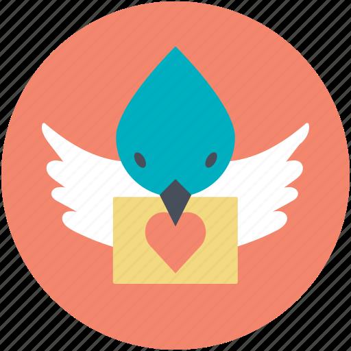 dove with letter, love correspondence, love inspiration, love theme, retro correspondence icon
