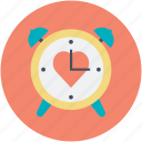 affection, dating, heart sign, love theme, timer icon