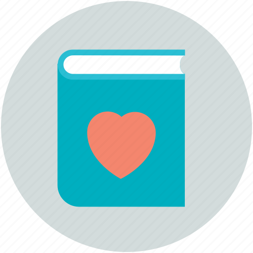 diary, heart sign, love, memo, romantic feelings icon