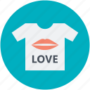 love concept, love inspiration, print of lips, tee shirt design, valentine day theme icon