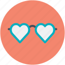 heart glasses, love, love theme, passion, style
