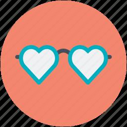 heart glasses, love, love theme, passion, style icon
