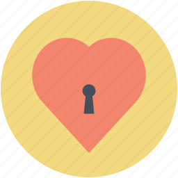 heart key slot, love inspiration, privacy, romantic, secret feelings icon