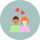 couple, day, heart, love, romance, romantic, valentines icon