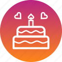 cake, celebrate, day, love, romance, valentines icon