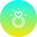 engagement, heart, love, marriage, propose, ring, valentines icon