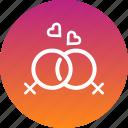 couple, heart, lesbian, lgbt, love, romance, romantic icon
