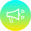 day, declare, love, megaphone, propose, valentines icon