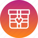 day, gift, love, present, romance, valentines icon