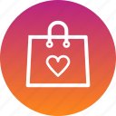 bag, day, love, purchase, romance, shopping, valetines icon