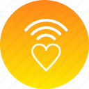 heart, love, network, romance, valentines, wifi icon