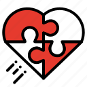 celebration, heart, love, puzzle, romantic, valentine icon