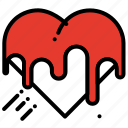 cake, celebration, heart, love, party, valentines day icon