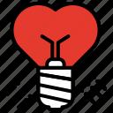 buld, idea, love, proposal, romantic, valentines day icon