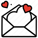 email, heart, love letter, love message, proposal, romantic icon