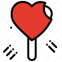 celebration, dessert, heart, ice cream, love, party icon